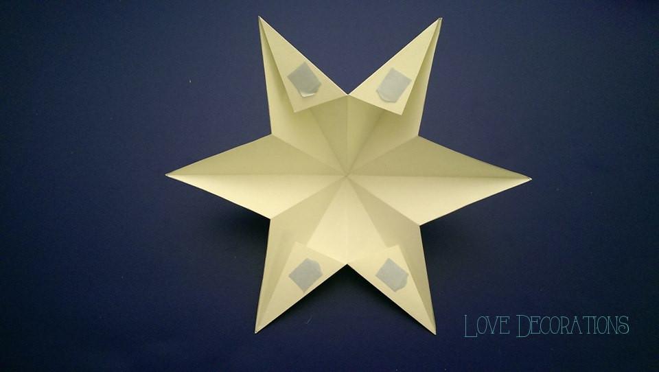 3D Wandsterne aus Tonpapier und mein erstes Tutorial - Love Decorations