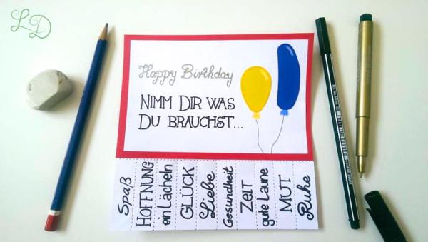 Geburtstagskarte Nimm Dir was Du brauchst 7