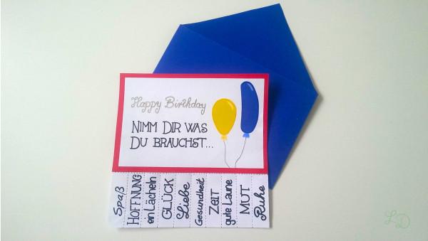 Geburtstagskarte Nimm Dir was Du brauchst 8