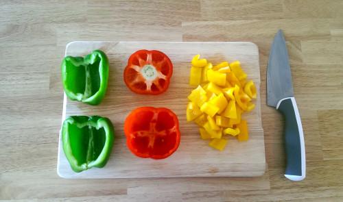 Gefüllte Paprika Hackfleisch Spinat 1