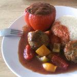 Gefüllte Paprika mit Hackfleisch und Spinat