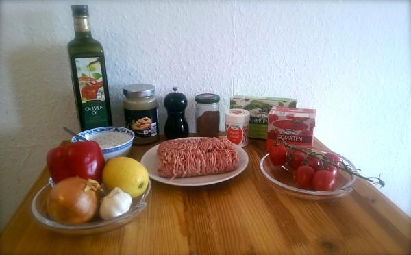 Gefüllte Paprika Hackfleisch Spinat 2