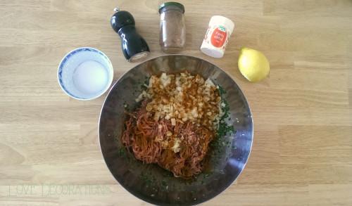 Gefüllte Paprika Hackfleisch Spinat 3