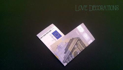 Geldschein Herz 5