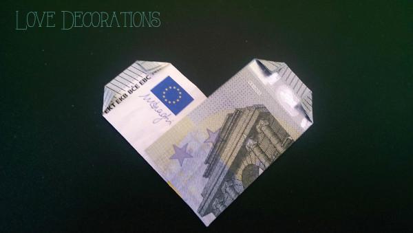 Geldschein Herz 6