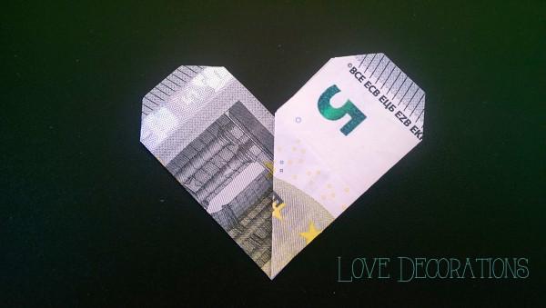 Geldschein Herz 7