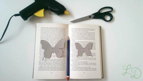 Schmetterlinge für Herzkranz