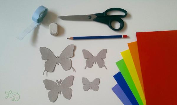 Schmetterlingswand bunt 1