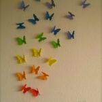 Unsere bunte Schmetterlingswand