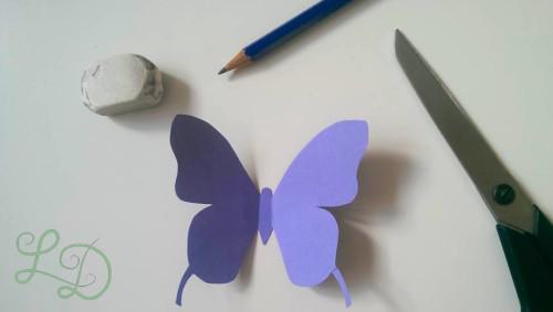 Schmetterlingswand bunt 2