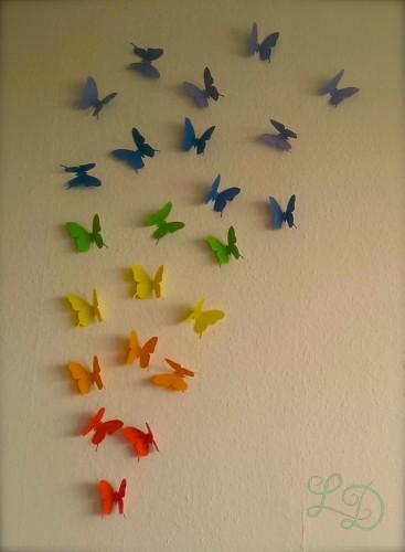 Schmetterlingswand bunt
