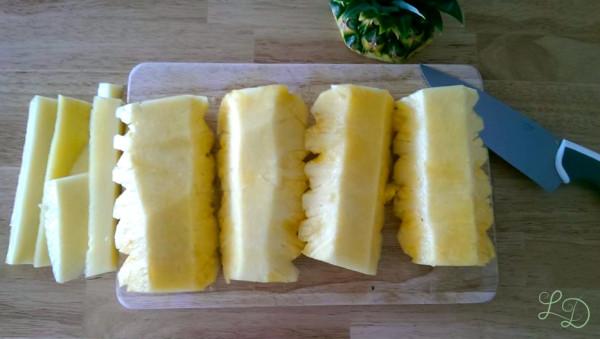 Ananas schneiden 5
