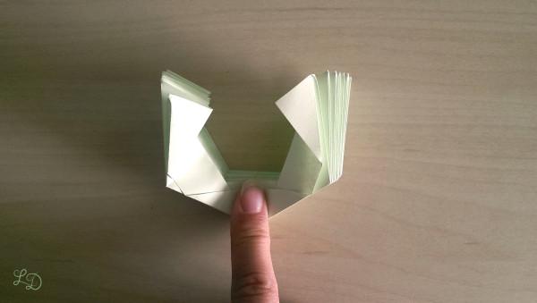 Origami Gläser verschönern 11
