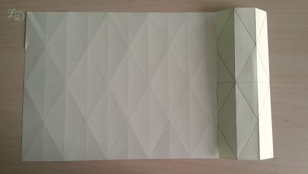 Origami Gläser verschönern 13