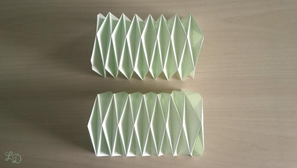 Origami Gläser verschönern 14