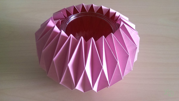 Origami Gläser verschönern 19