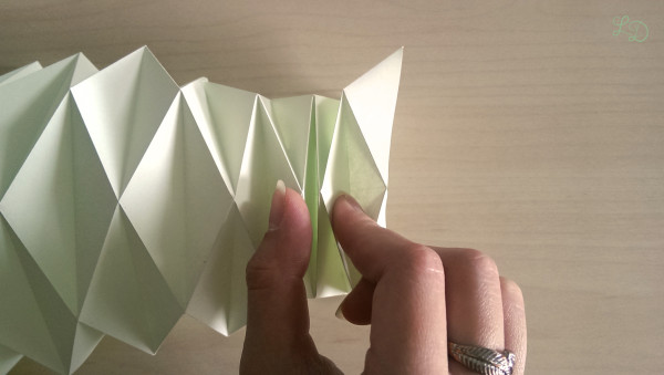 Origami Gläser verschönern 10