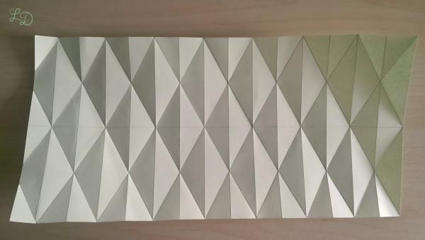 Origami Gläser verschönern 7