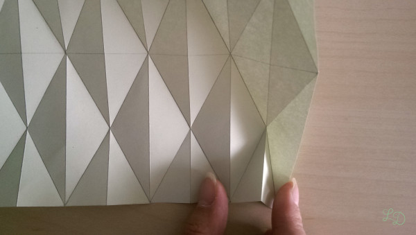 Origami Gläser verschönern 8