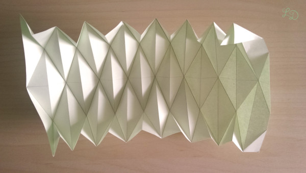Origami Gläser verschönern 9