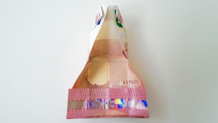 Geldschein falten Shirt 10
