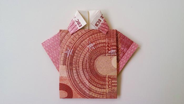 Geldschein falten Shirt 16