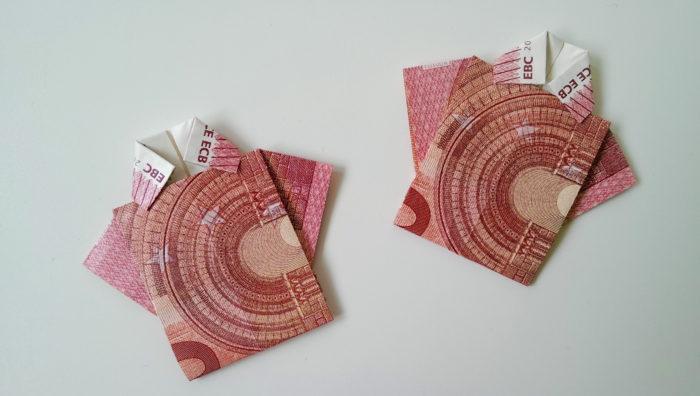 Geldschein falten Shirt 17