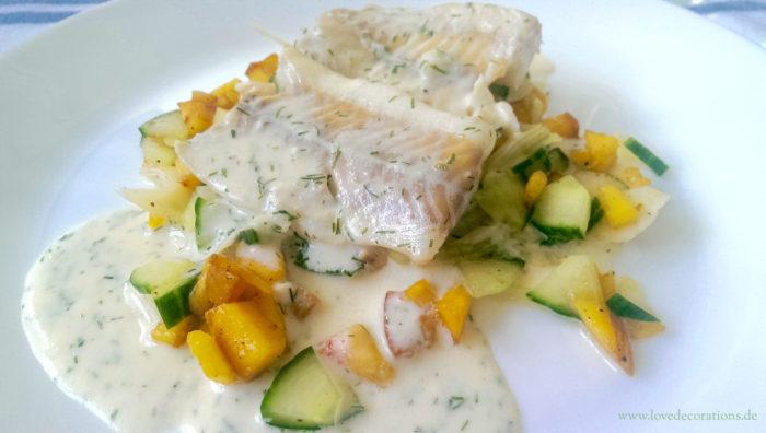 Pfirsich-Gurken-Fenchel-Salat mit Fisch 18