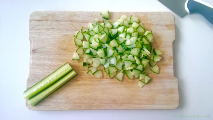 Pfirsich-Gurken-Fenchel-Salat mit Fisch 7