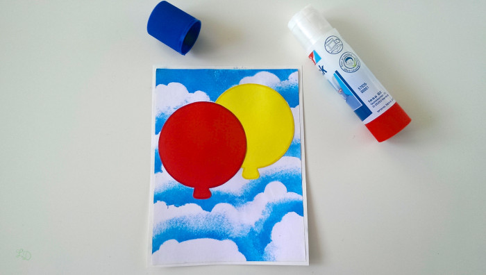 Wölkchen-Ballon-Karte 7