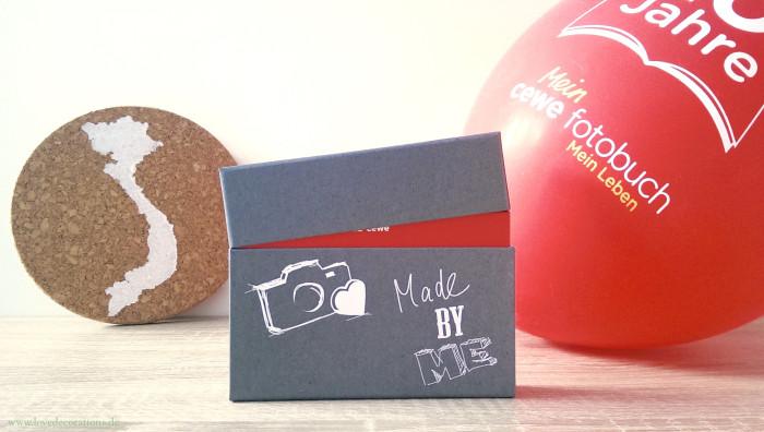 Korkplatte mit Land und CEWE Polaroid 2