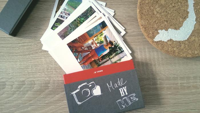 Korkplatte mit Land und CEWE Polaroid 7
