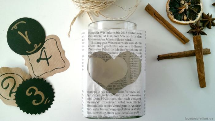 Adventskranz Teelicht-Glas 3