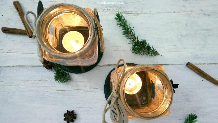 Adventskranz Teelicht-Glas 5