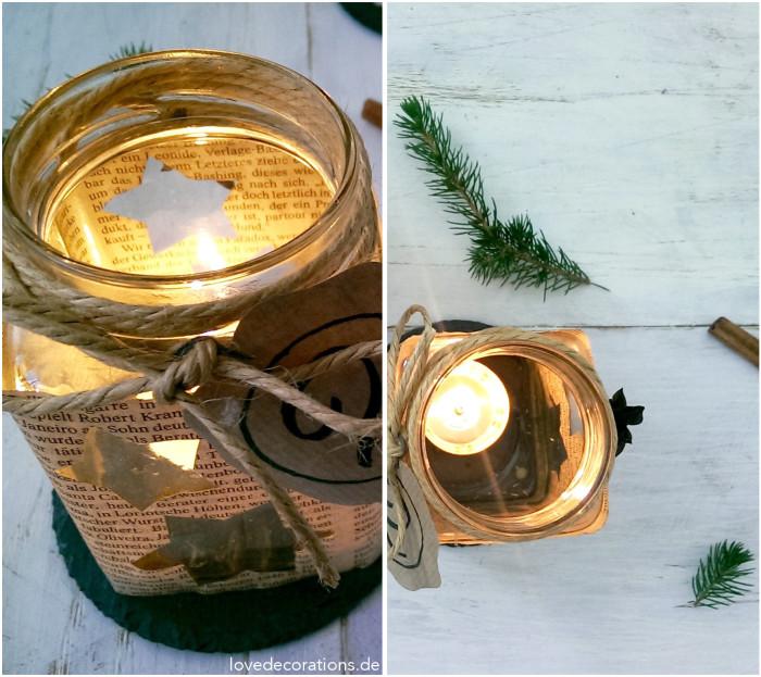 Adventskranz Teelicht-Glas 8