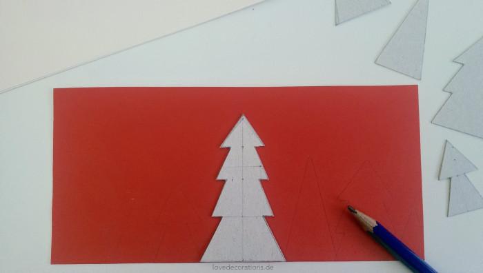 Weihnachtskarte Tannenbaum 1