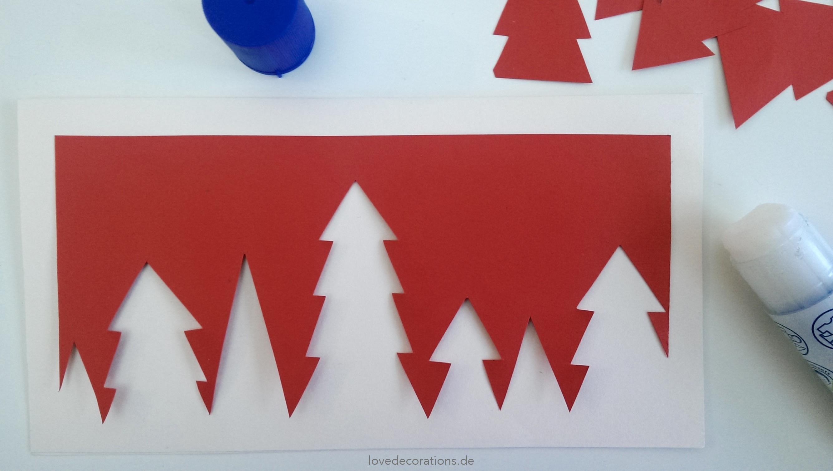 Weihnachtskarte Tannenbaume