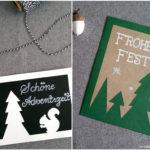 Weihnachtskarte: Tannenbäume