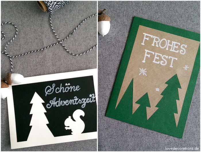 Weihnachtskarte Tannenbaum 3