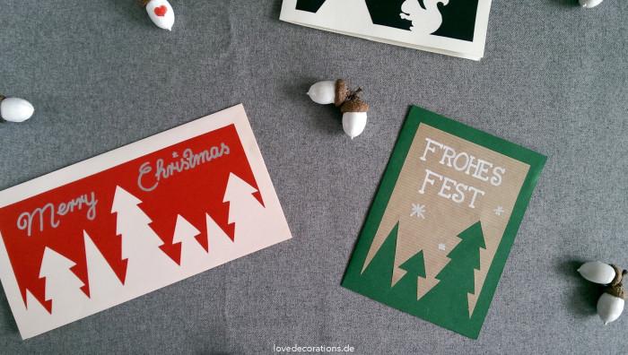 Weihnachtskarte Tannenbaum 4