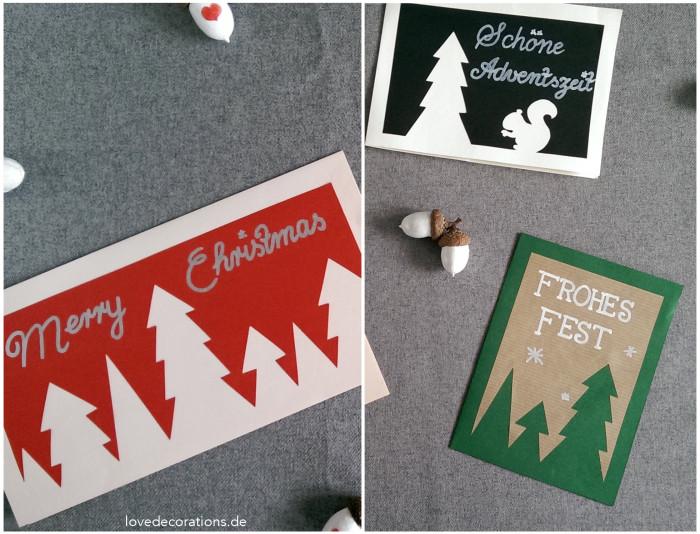 Weihnachtskarte Tannenbaum 5