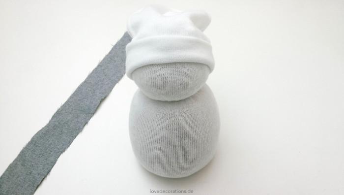 Schneemann Socken 12