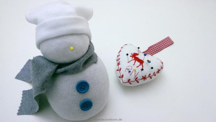 Schneemann Socken 14