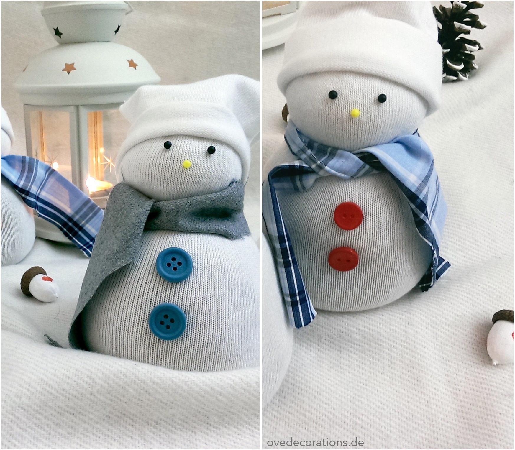 Meine kleine Schneemann-Socken-Gang - Love Decorations