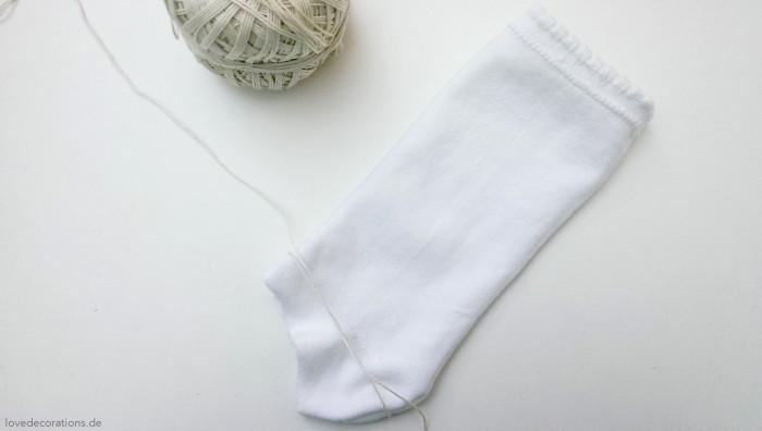 Schneemann Socken 2