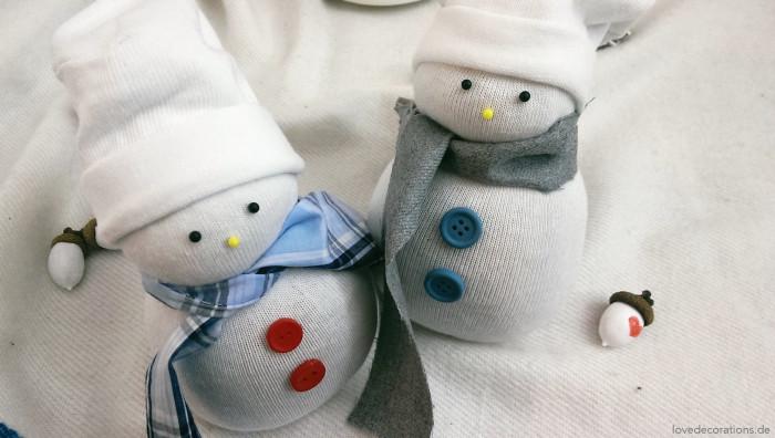 Schneemann Socken 24