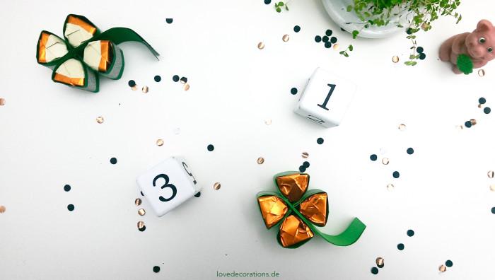Silvester-Mitbringsel Kleeblatt 12