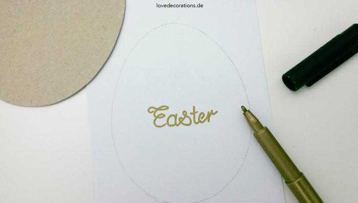 DIY Knopfbild Ostern 2