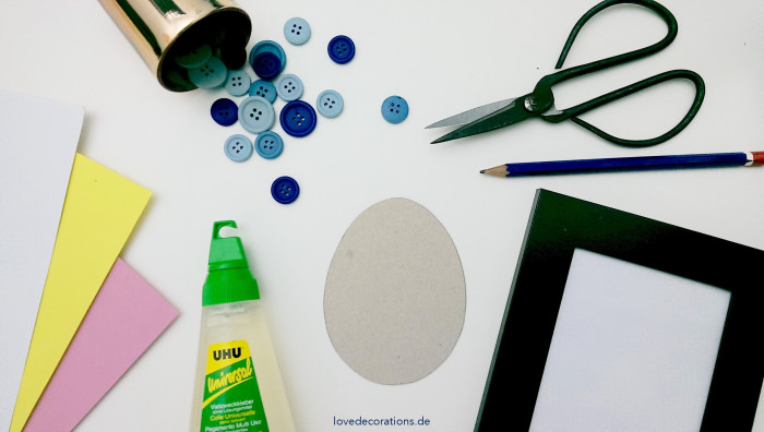 DIY Knopfbild Ostern