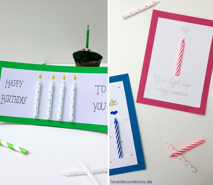 Karte Geburtstagskerze 8